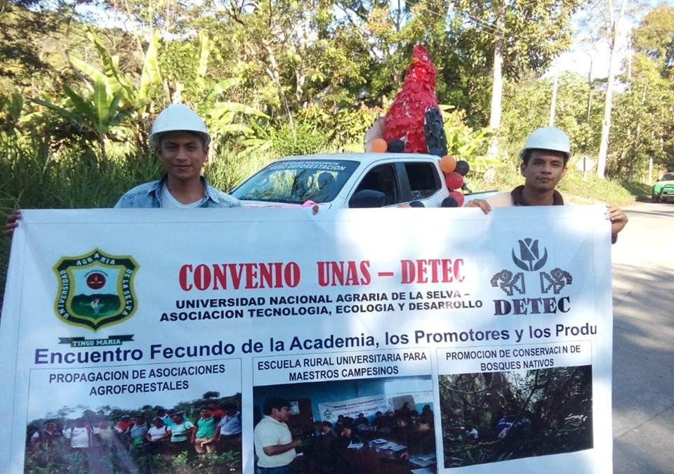 DETEC, implementa Escuela Rural Universitaria –Campesina, según convenio con la Universidad Agraria de la Selva- UNAAS -Huánuco Tingo María